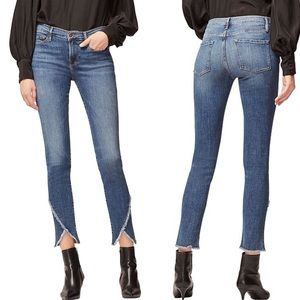 NWT Frame Denim Le Skinny De Jeanne Raw Hem Jeans